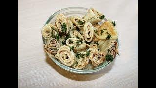 Закусочные блинчики с селёдкой\eateries pancakes with herring