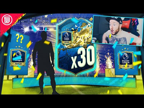 WHAT DO YOU GET FROM 30 GUARANTEED PREMIER LEAGUE TOTS PACKS?!?! - FIFA 20 Ultimate Team
