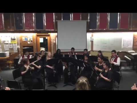 Global Connections High School Woodwind Choir 3/9/16 playing Gavotte by William S Hirsch