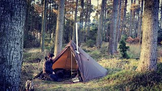Hot Tent Camping wİth my Dog
