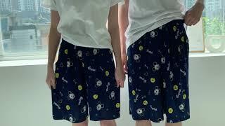디즈니 미키 커플 아이스 5부바지 잠옷 홈웨어