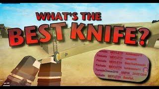 Quel est le meilleur couteau / mêlée dans les forces fantômes?? - Roblox: Forces Fantômes