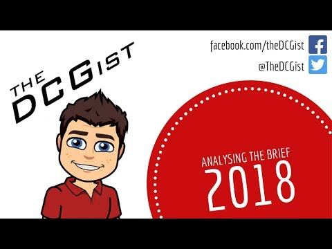 2018 DCG Student Assignment - Analysing the Brief