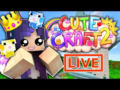 🔴 LIVE Hamster House Build | CuteCraft Minecraft SMP (Season 2)
