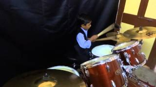 Energetic performance for the song Applause - Drums Cover