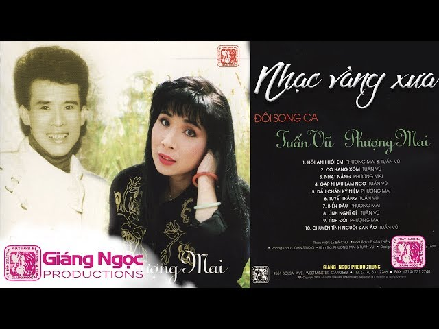 Băng nhạc Hỏi Anh Hỏi Em TUẤN VŨ, PHƯỢNG MAI | Song Ca Nhạc Vàng Xưa Thập Niên 90