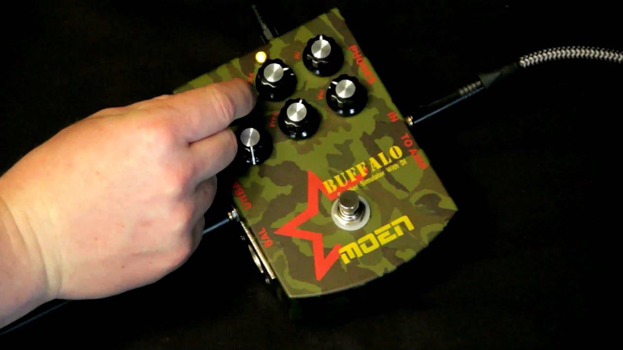 Moen MO-BA Buffalo Parametric EQ + DI Guitar Pedal
