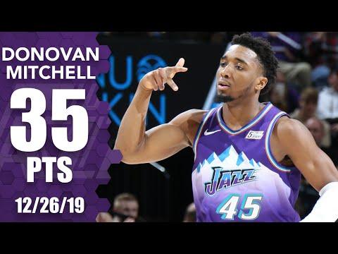 Donovan Mitchell drops 35 points in Jazz vs. Trail Blazers | 2019-20 NBA Highlights