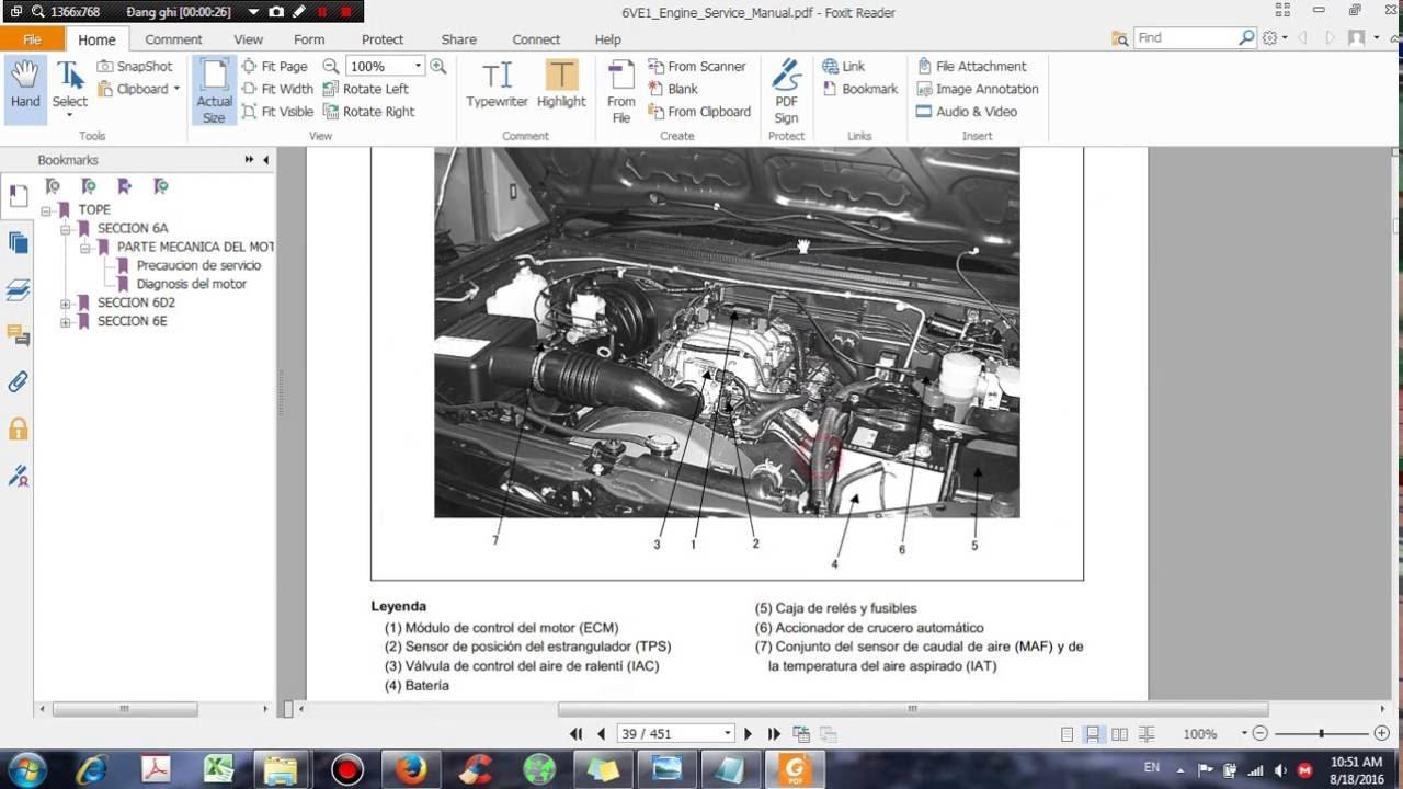 medium resolution of isuzu 6ve1 engine service manual dhtauto com