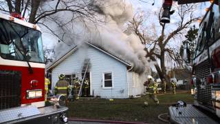 Berlin Township Michigan: Working Structure Fire, Heavy smoke and Flames 6917 Chester St