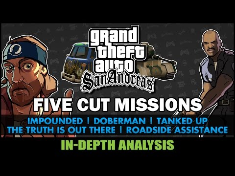 GTA San Andreas - Five Cut Missions - Feat. SWEGTA [Beta Analysis] [PL, ESP, TRK Subs]