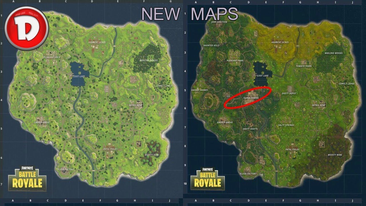 FORTNITE BATTLE ROYALE Tilted Towers New Map Update Xbox