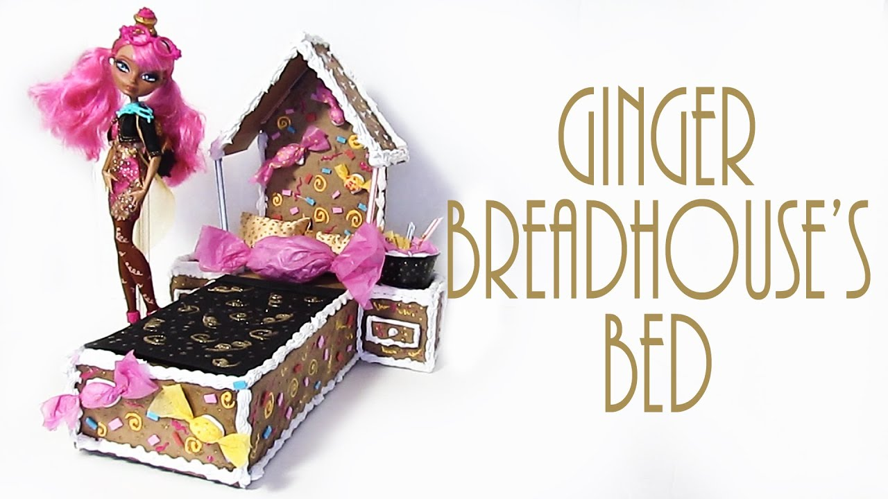 How to make ginger breadhouse 39 s bed ever after high for How to make a high bed