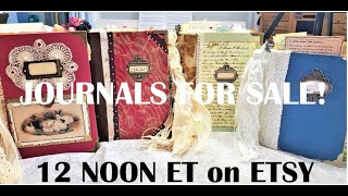JUNK JOURNAL FOR SALE Part 1 Journal Flip Throughs :) 4 Completed Journals Ready! The Paper Outpost!