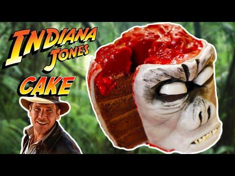 INDIANA JONES MONKEY BRAIN CAKE - NERDY NUMMIES