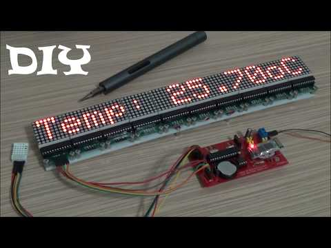 Make Your Own Arduino LED Matrix Display 80x8px (DIY) Bluetooth Controlled (+Android App)