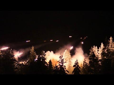 Drohne fliegt durch Raketenhagel: Dieses Video zeigt das Inferno