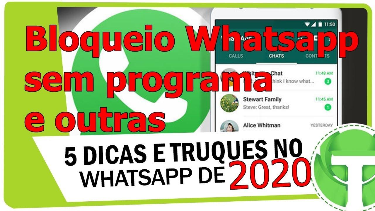 Dicas e Truques Whatsapp, 2020 que voçê Precisa Saber