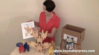 Wood Toy Plans - Table Saw - Astronaut Stacking Toys Play Set