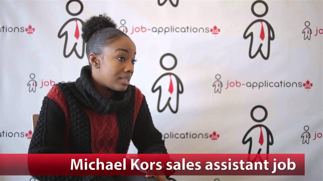 michael kors s assistant job