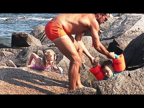 Kids Rescued by Lifeguard at the Beach!