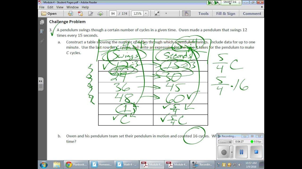 Grade 6 Module 4 Lesson 20