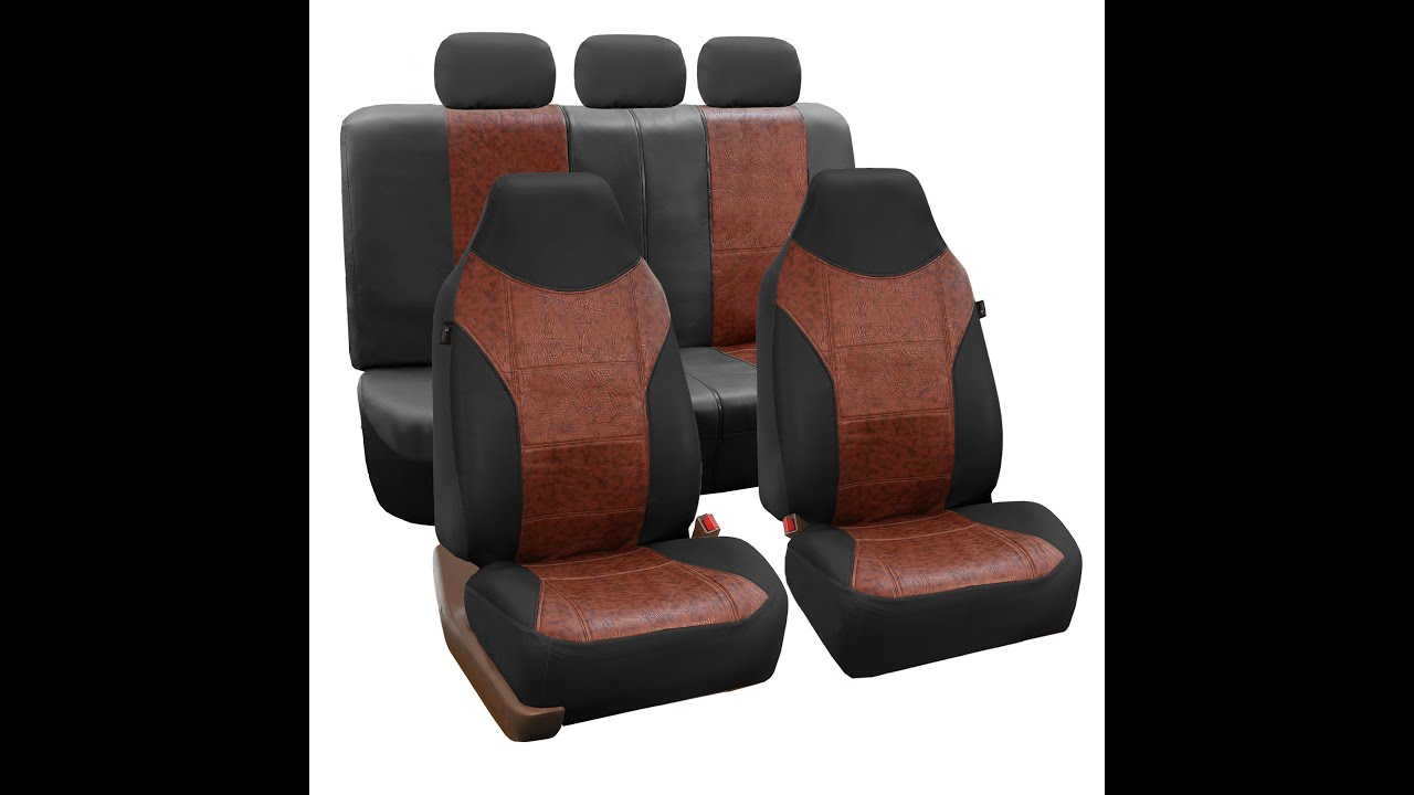 Textured Leather Seat Covers FH Group Auto R