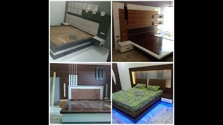 Modern Bed design with back and bedroom ideas#4# by wood working idea
