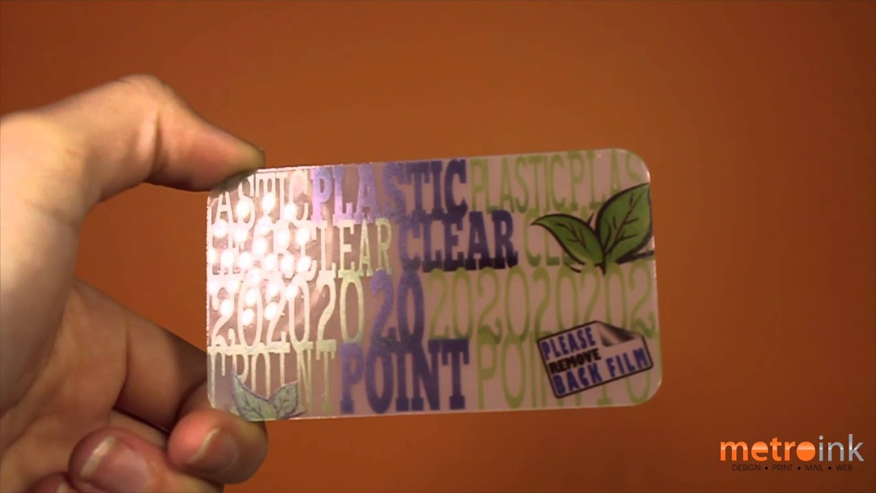 metroink 20pt clear plastic business card youtube