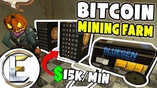 Bitcoin Mining Farm I Made $914,591 - GMOD DarkRP (Bitcoin Base)
