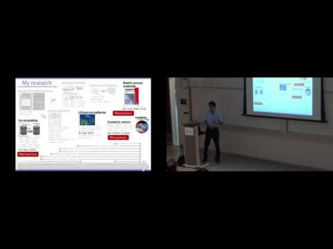 Dr. Hirotomo Nishihara - Waterloo Institute for Nanotechnology (WIN) Seminar