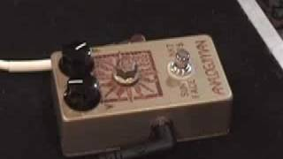 ANALOGMAN Sunface NKT 275 fuzzface pedal demo Telecaster