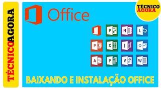 Baixando e instalando Office.