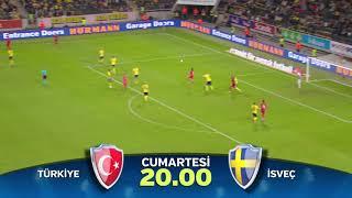 """UEFA Uluslar Ligi Karşılaşması """"Türkiye-İsveç"""" Cumartesi 20:00"""