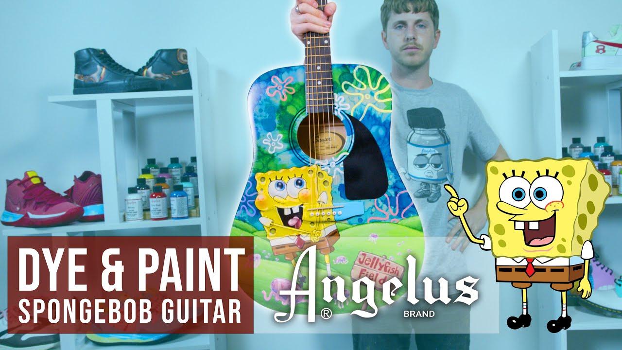 Dye & Paint Spongebob Guitar   Angelus Paint and Dye