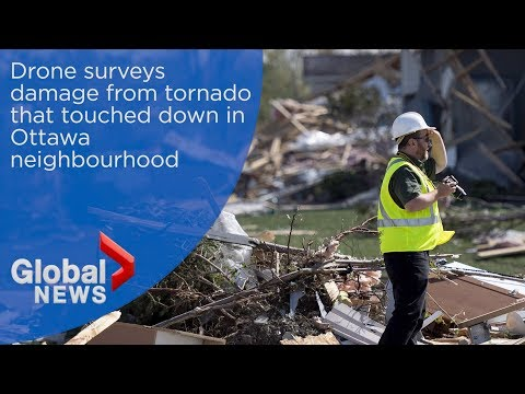 Drone surveys damage from tornado in Ottawa neighbourhood