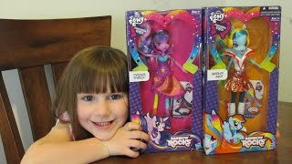 28- MLP Rainbow Rocks Equestria Girls Unboxing and Review - My Little Pony by Hasbro