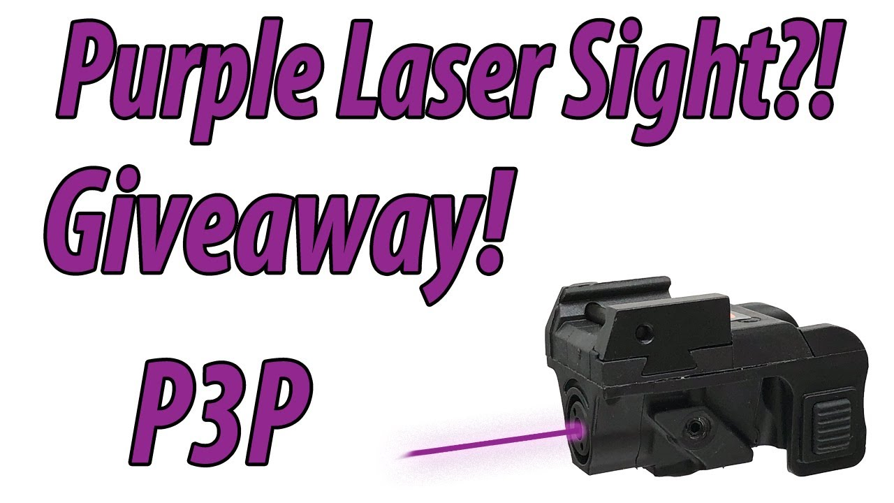 Limited Edition Purple Laser Sight Giveaway!