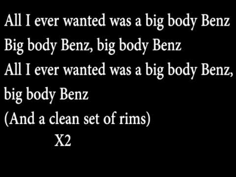 G Unit Big Body Benz Lyrics on screen