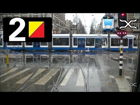 🚋 GVB Amsterdam Tramlijn 2 Cabinerit Centraal Station - Nieuw Sloten Driver