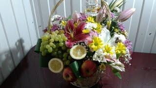 видео Оригинальный подарок - цветы в корзине