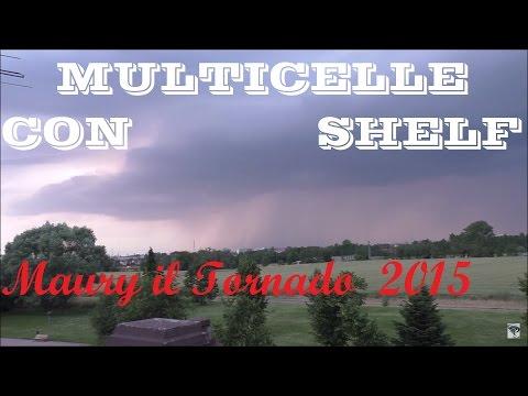 Multicelle con multi-shelf cloud su Est Milanese, riprese da Pieve Emanuele (MI) 25 Maggio 2015