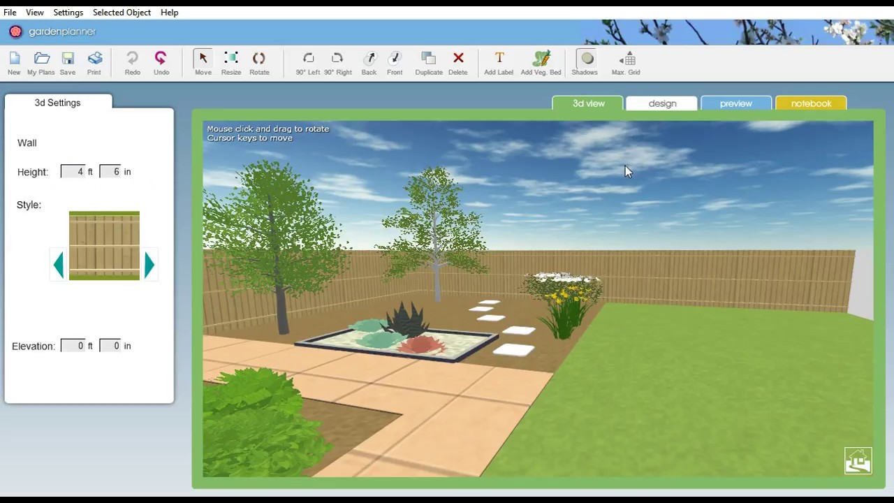 How To Use The New 3d View In Garden Planner Youtube