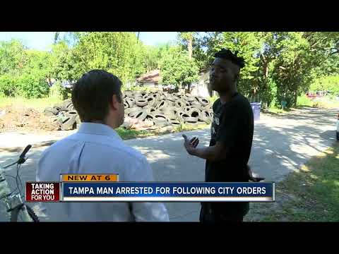 Tampa man arrested for dumping tires where city officials told him to dump them