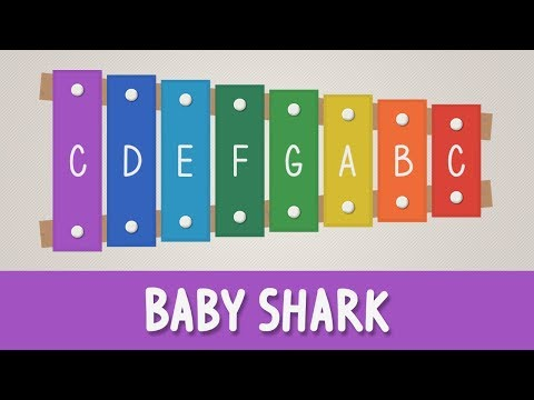 How To Play Baby Shark On A Xylophone - Easy Songs - Tutorial