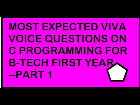 c programming most expected viva voice questions for B-Tech first year students.