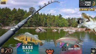 FISHING PLANET #20 DLC Salmon Star Pack & Virtual Bass Open Pack Alaska Kaniq Creek PÊCHE 2018