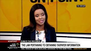 Zuma's tax records issue