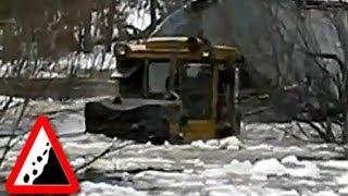 Безджорожье. Трактор Т10МБ болотоходец - нереальная силище