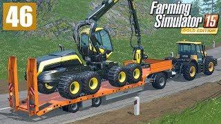 Transport sprzętu leśnego (Farming Simulator 15 GOLD #46), gameplay pl